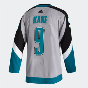 San Jose Sharks Men's Reverse Retro Authentic Jersey-09-Gray