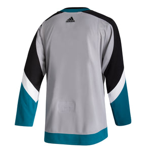 San Jose Sharks Men's Reverse Retro Authentic Jersey-Gray
