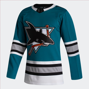 Men's San Jose Sharks  adidas 2020/21 30th Anniversary Heritage Authentic Player Jersey