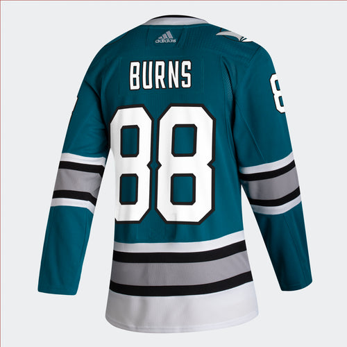 Men's San Jose Sharks Brent Burns adidas 2020/21 30th Anniversary Heritage Authentic Player Jersey