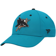 Load image into Gallery viewer, Men's San Jose Sharks Fanatics Branded Teal 30th Anniversary Heritage Adjustable Hat