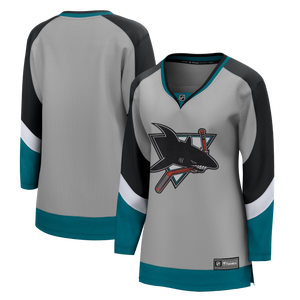 San Jose Sharks Women's Reverse Retro Breakaway Jersey-Gray