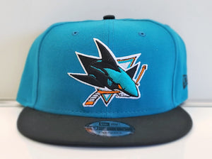 Two Tone Snapback-Teal & Blk
