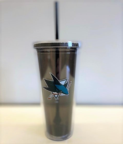 Sharks Tumbler with Straw