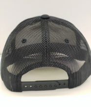 Load image into Gallery viewer, Primary Logo Leather Logo Trucker-Black