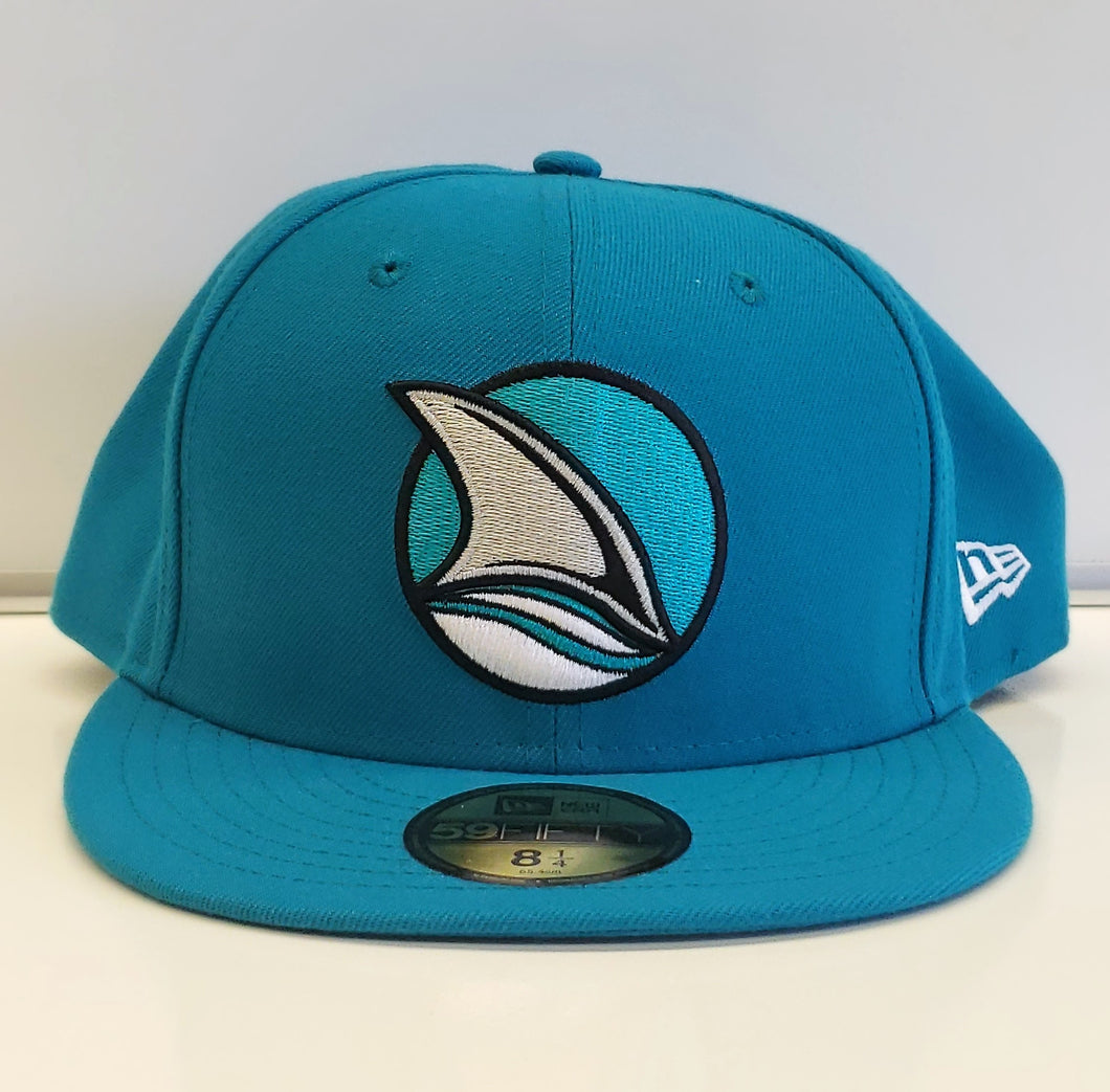 Fin Logo Fitted-Teal