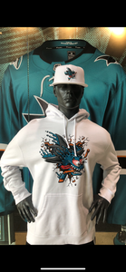 Men' Shark Freak Hoodie