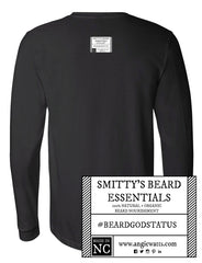Smitty's Beard Essentials black long sleeve tee