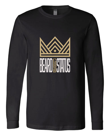Angie Watts Beard God Status Black Long Sleeve Tee