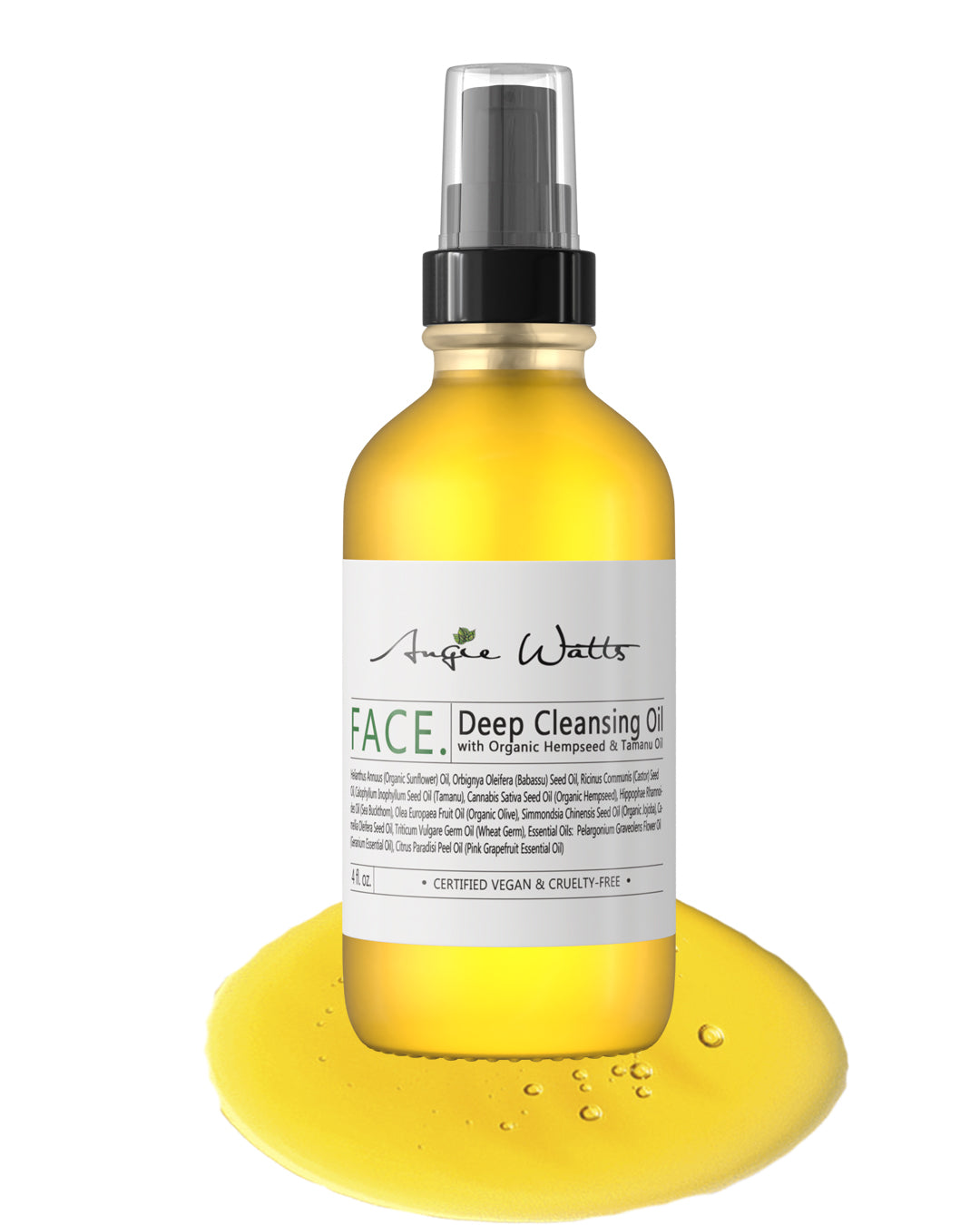 FACE. Deep Cleansing Oil, 4oz - Angie Watts