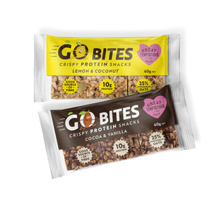 Go Bites mixed box - half Cocoa & Vanilla, half Lemon and Coconut - Box of 15