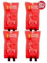 Load image into Gallery viewer, Pack of 4 Fire Blanket for Emergency Survival