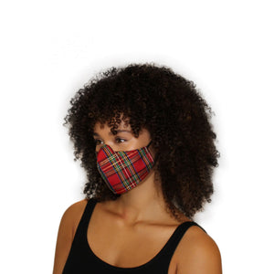 Reversible Face Mask - Red Plaid
