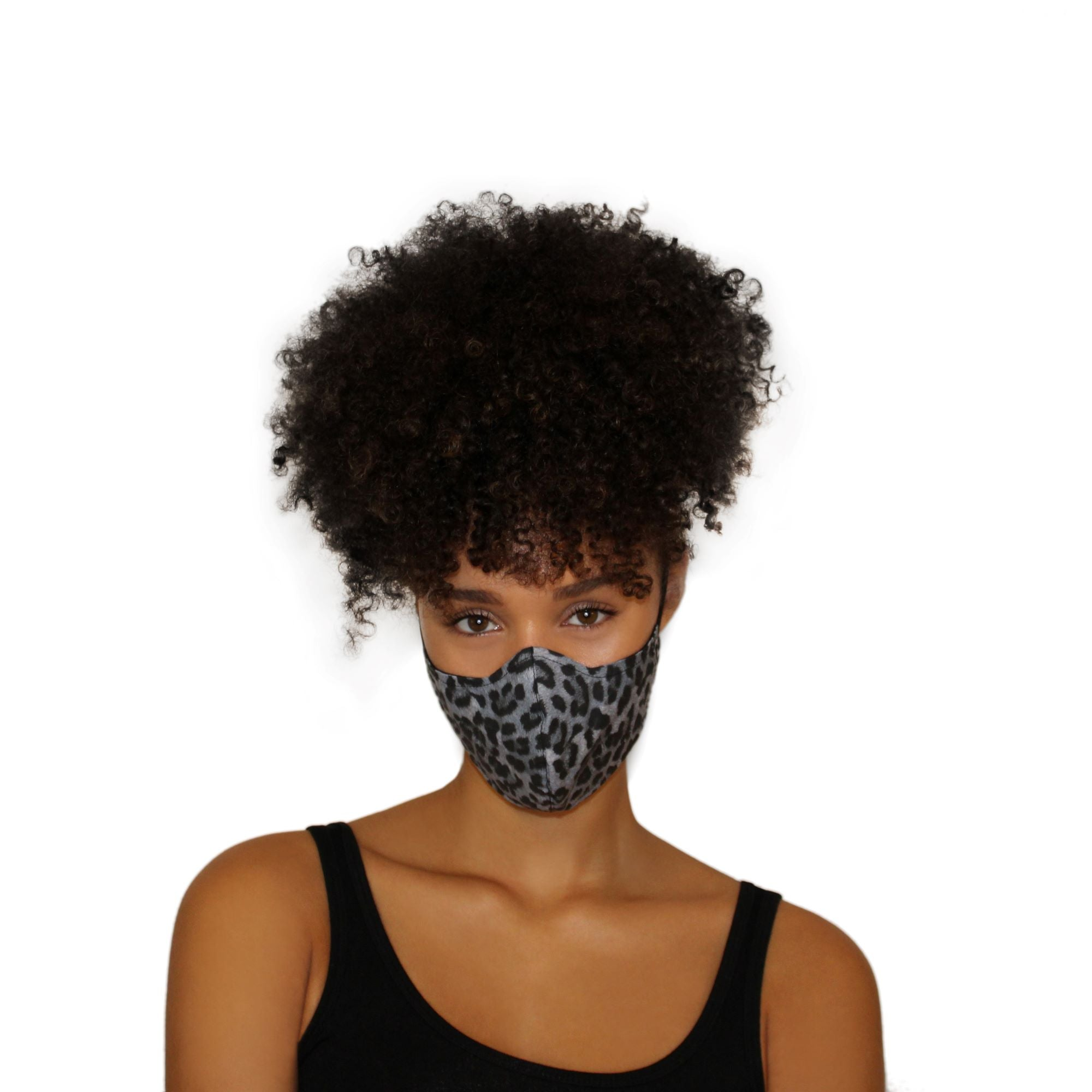 Reversible Face Mask - Blue Leopard