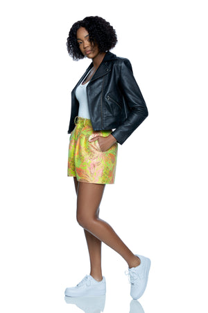 Shelia High Waist Jacquard Shorts