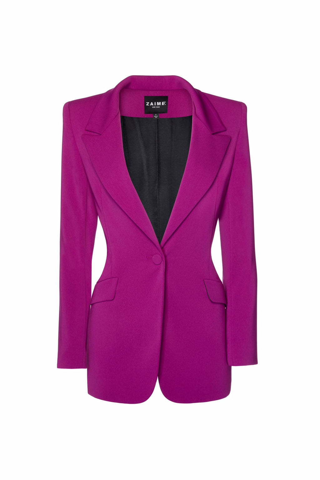 Janet Tailored Blazer - Magenta Purple