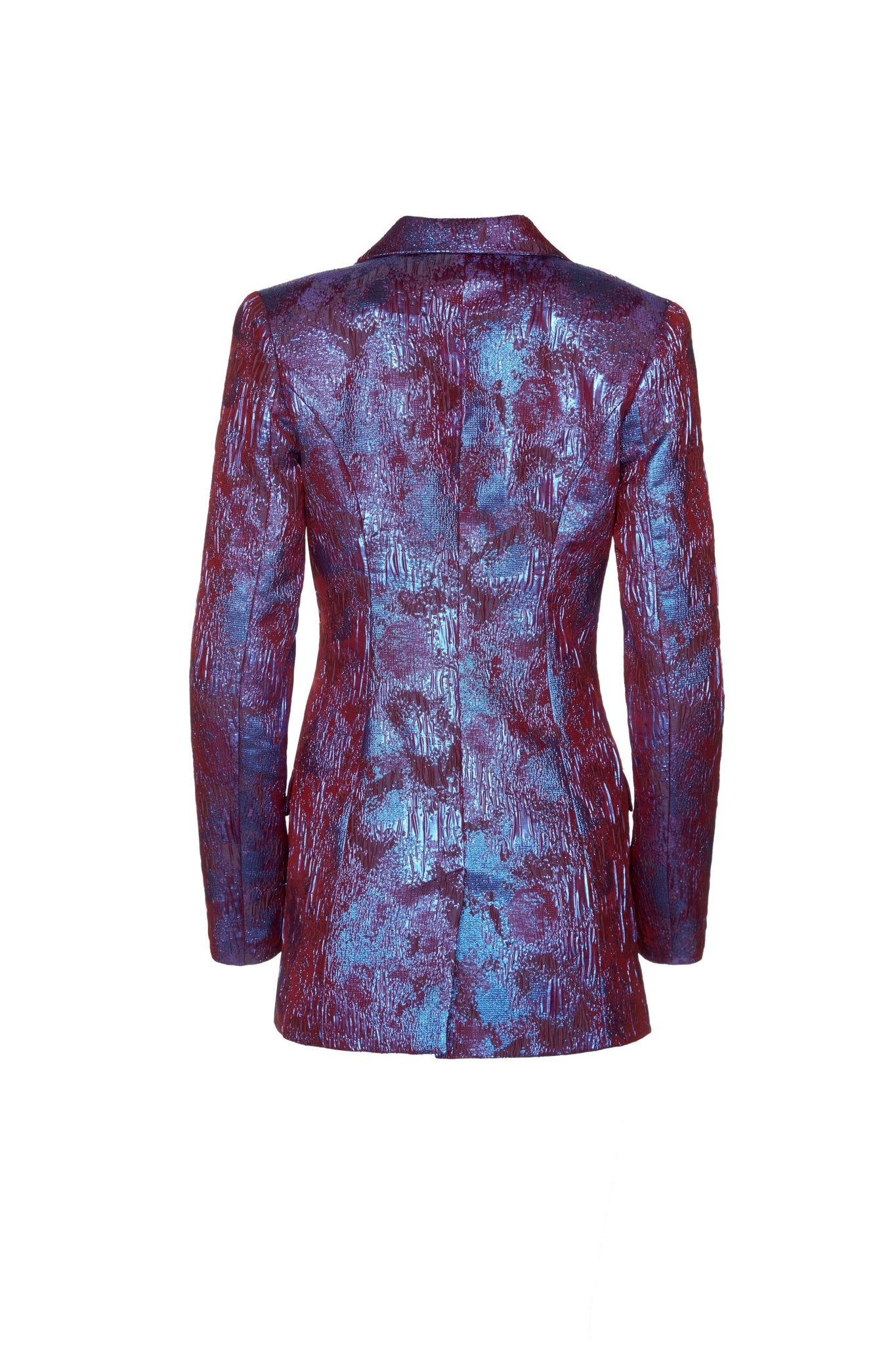 Janet Tailored Blazer - Metallic Magenta Purple