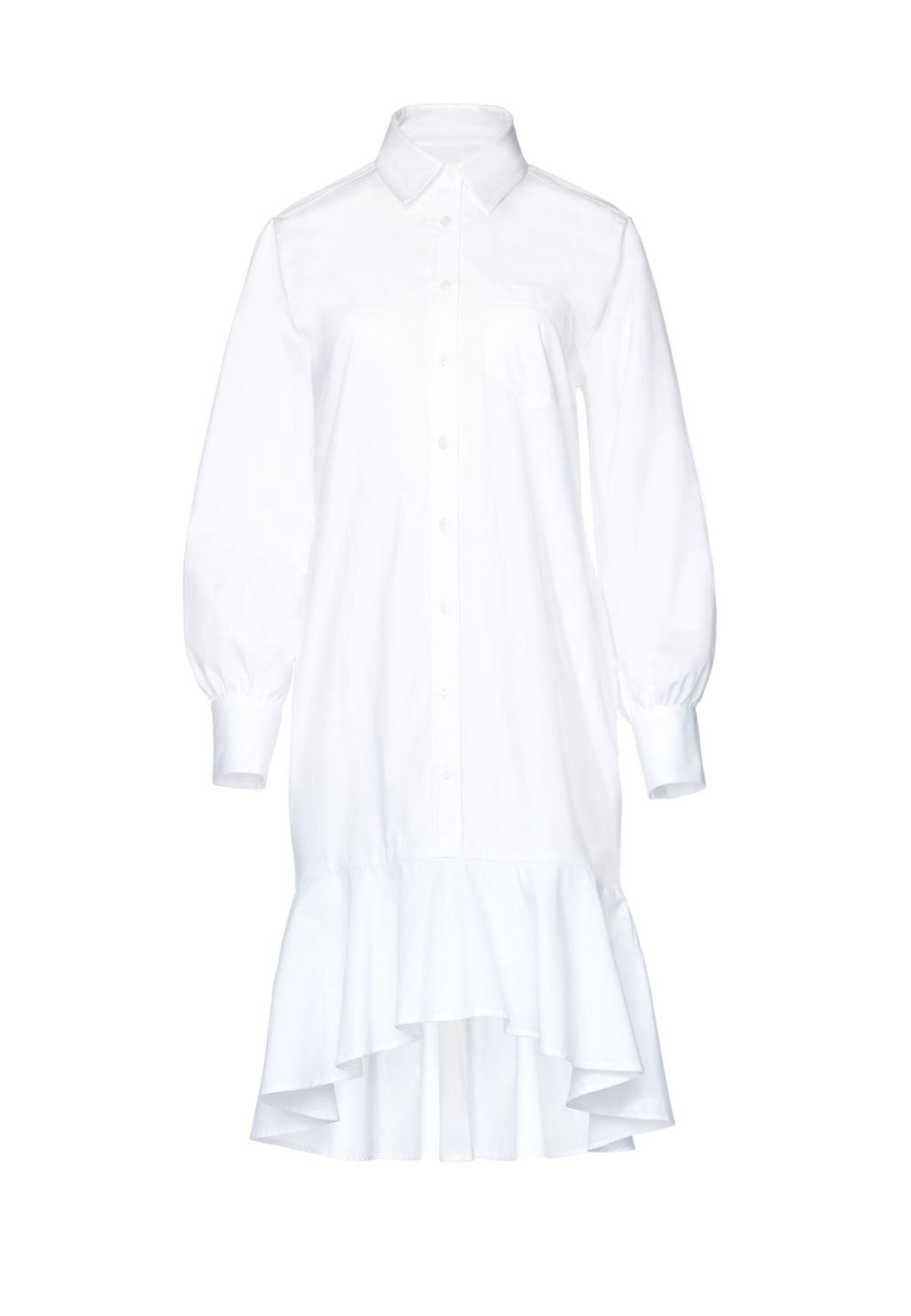 Michelle Button-Up Shirt Dress - White