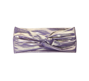Ella Turban Headband - Liquid Lavender Gold