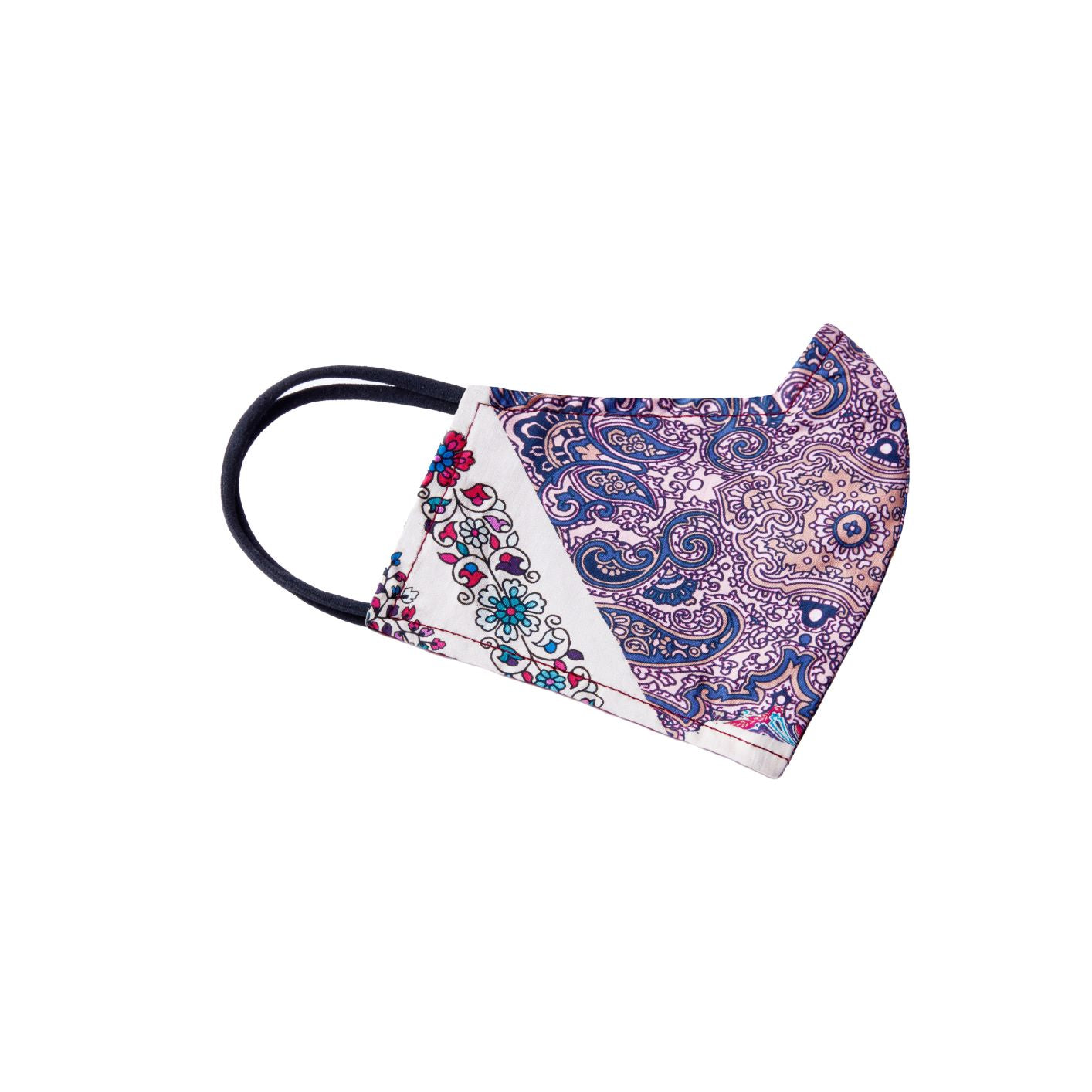 Reversible Face Mask - Magenta Paisley
