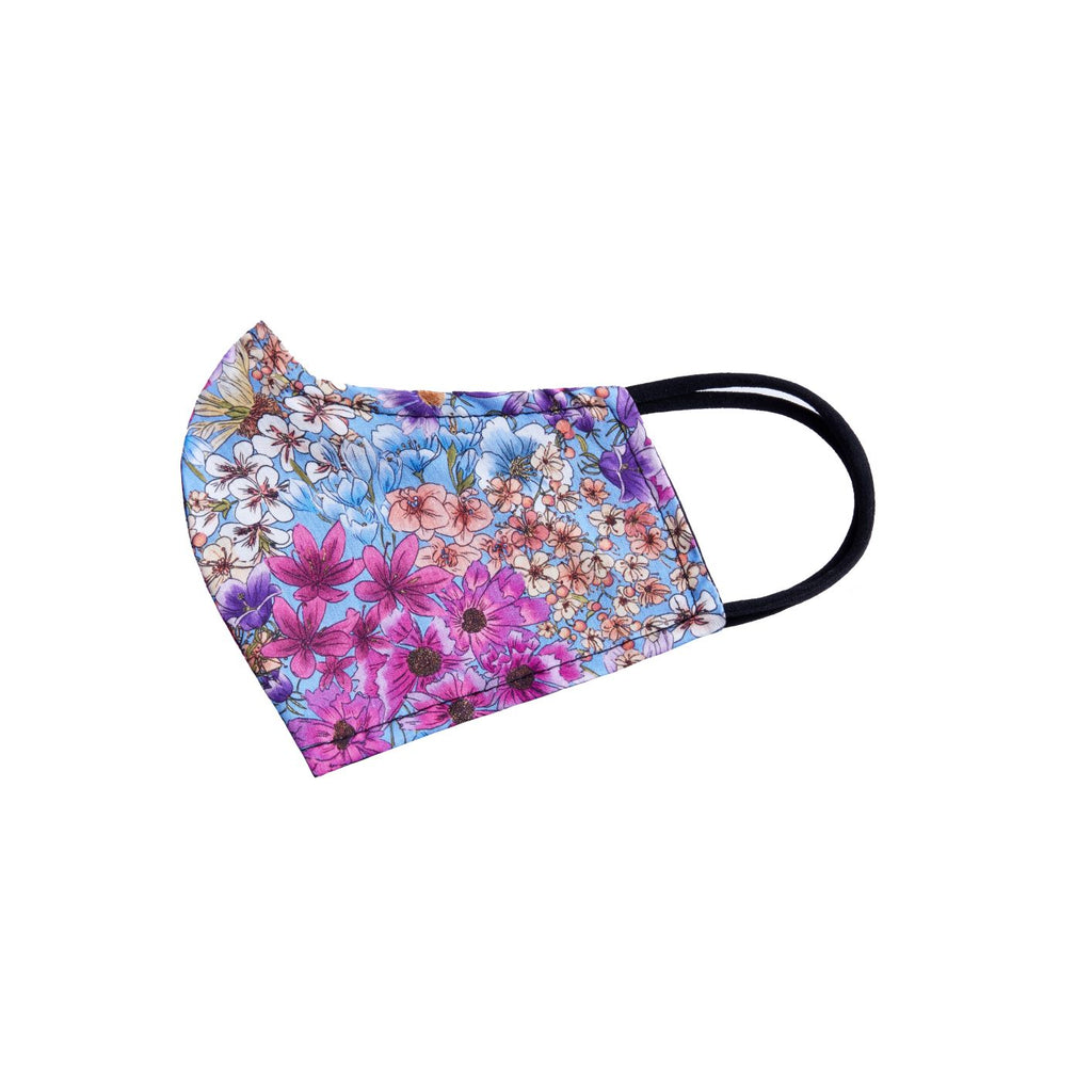 Reversible Face Mask - Periwinkle Floral