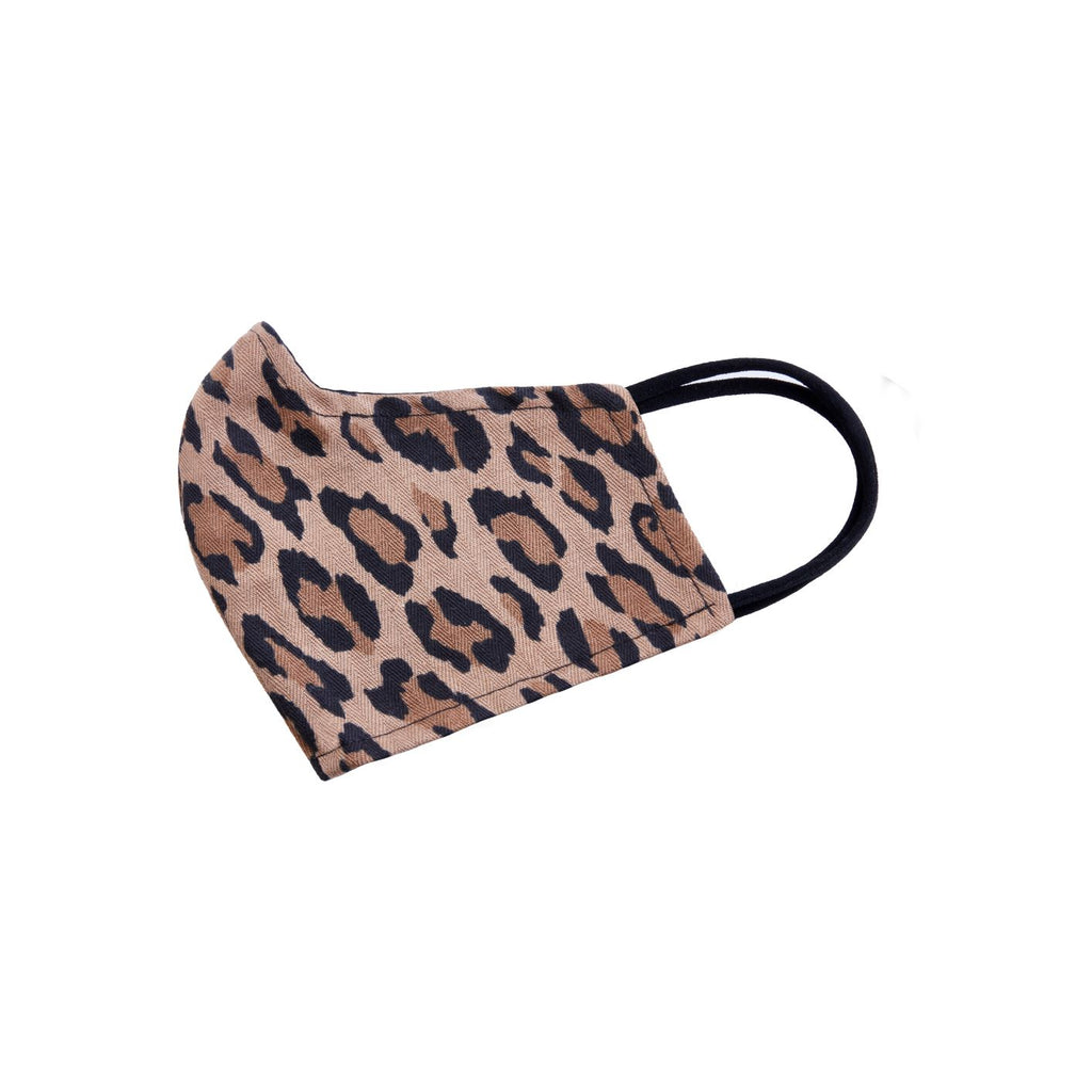 Reversible Face Mask - Leopard (Cotton Twill)