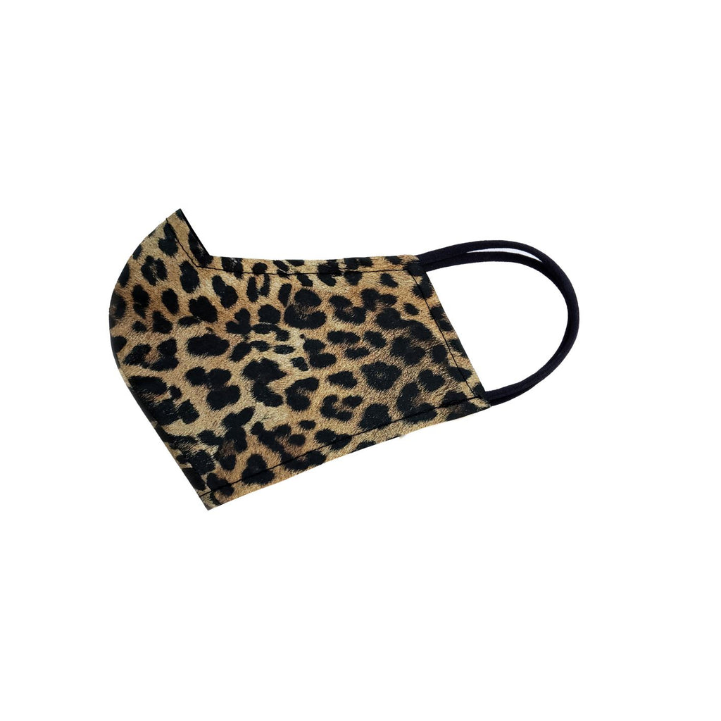 Reversible Face Mask - Brown Leopard (small spots)