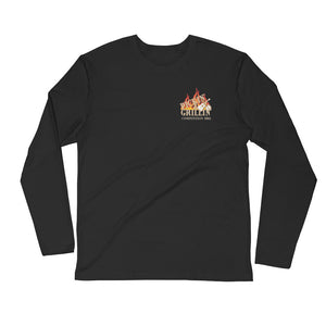 Pickin' N Grillin' Long Sleeve Fitted Crew