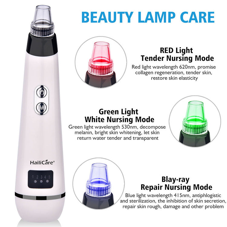 Skin Care Face Deep Pore Acne Pimple Removal Vacuum Suction Facial Diamond Beauty Tool