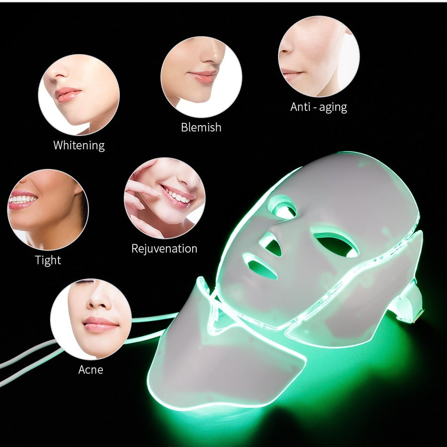 LED Facial Mask Photon Light Therapy.