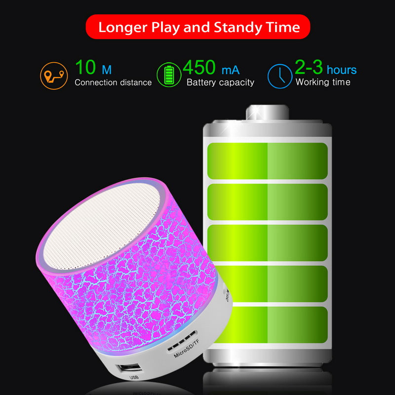 Mini Portable Bluetooth LED Speaker