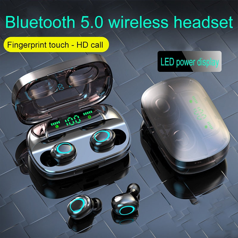 Noise Canceling Bluetooth Hands Free Earbud Headphones
