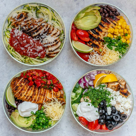 grilled chicken meal prep bowls