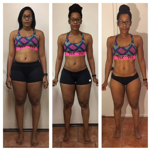 Woman proudly shows off her results of her midsection from teatoxing with Celebrity Detox Tea co