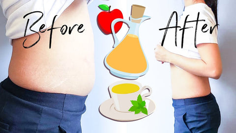 before and after picture of debloating