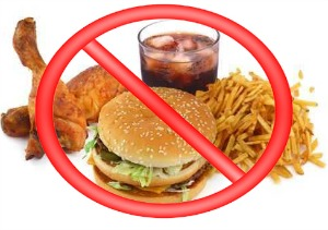 say no to processed foods: