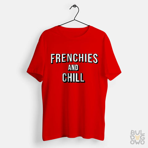 Koszulka Frenchies and Chill męska