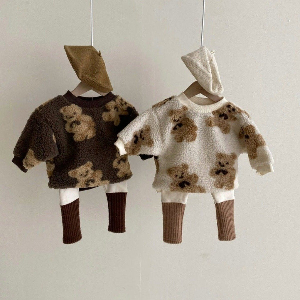 Teddy Fleece Crewneck - Smitn Bebe