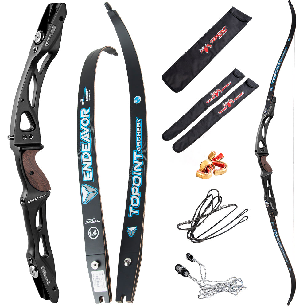 TOPOINT ARCHERY Endeavor Recurve Bow Package Target Recurve Bow ILF Limbs
