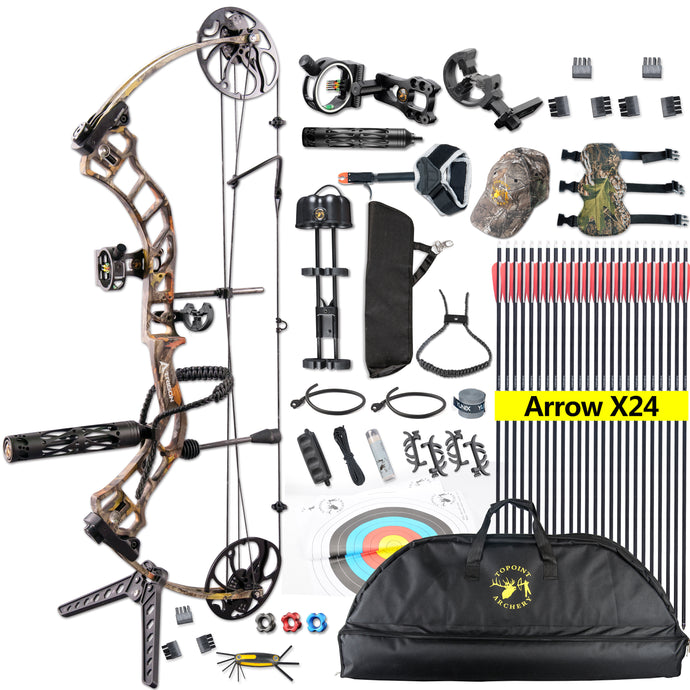 TOPOINT Archery Trigon Compound Bow Package