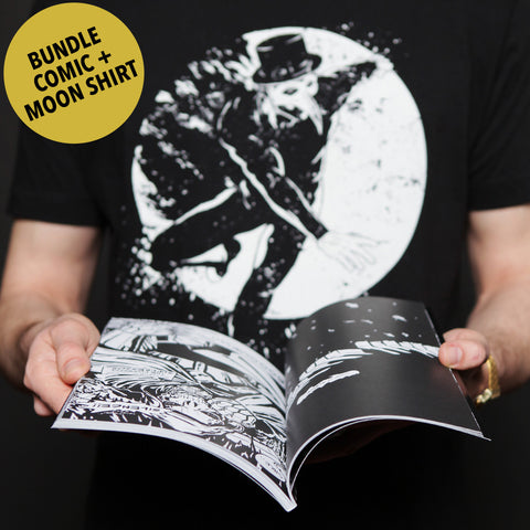 "Bundle: Official Claptone Graphic Novel + ""Moon"" T-Shirt"