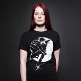 CLAPTONE T-Shirt: Moon Black - Women's