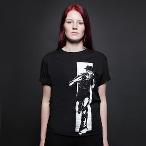 CLAPTONE T-Shirt: Run Black - Women's