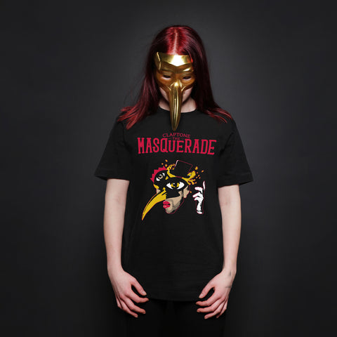 CLAPTONE T-Shirt: The Masquerade Black - Women's