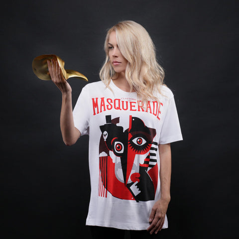 New: The Masquerade Tee Girl - White (Limited Edition)