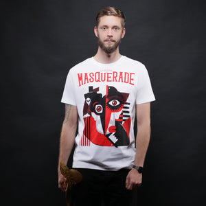 New: The Masquerade Tee - White (Limited Edition)