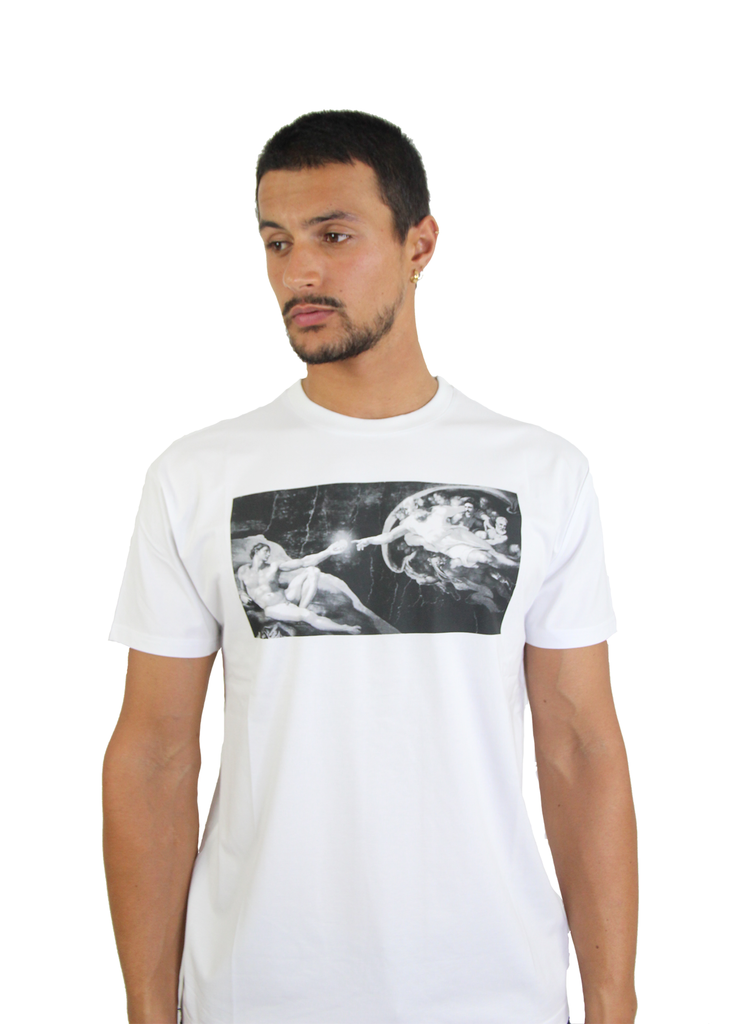 "Nikola Tesla ""The War of Currents"" White T-shirt - Limited Edition"