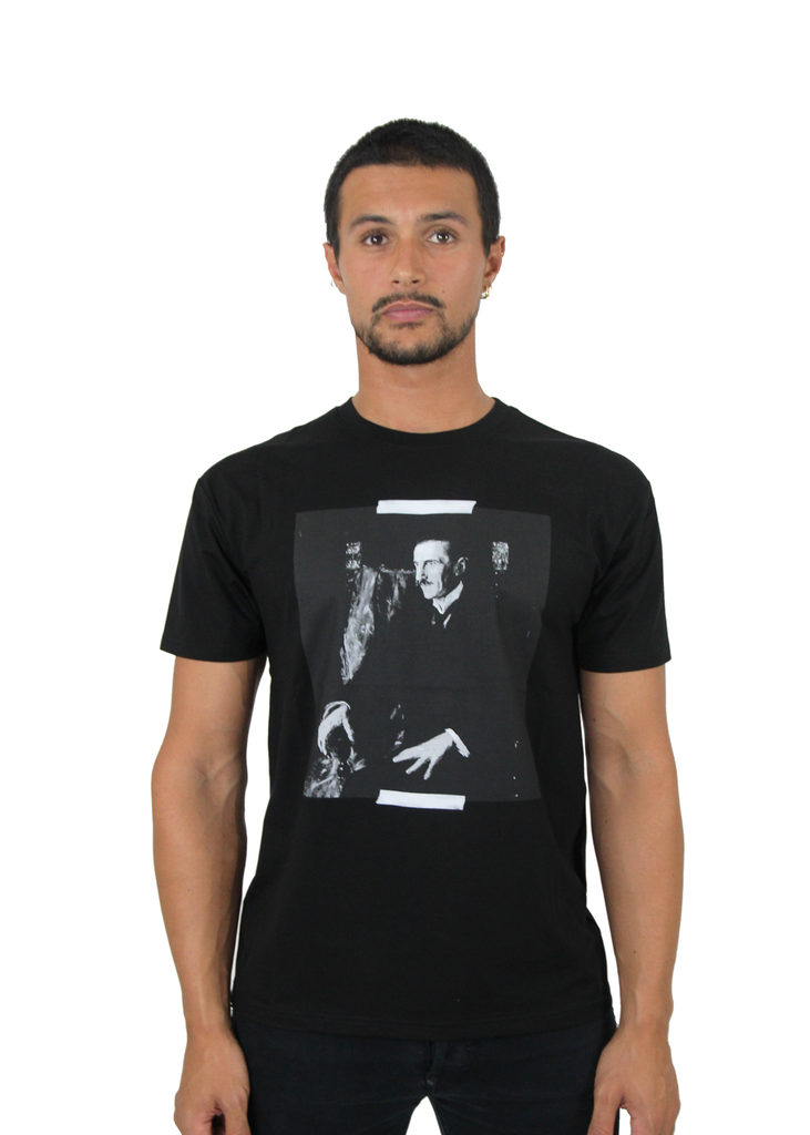 Nikola Tesla Portrait Men's, Black t-shirt - Limited Edition