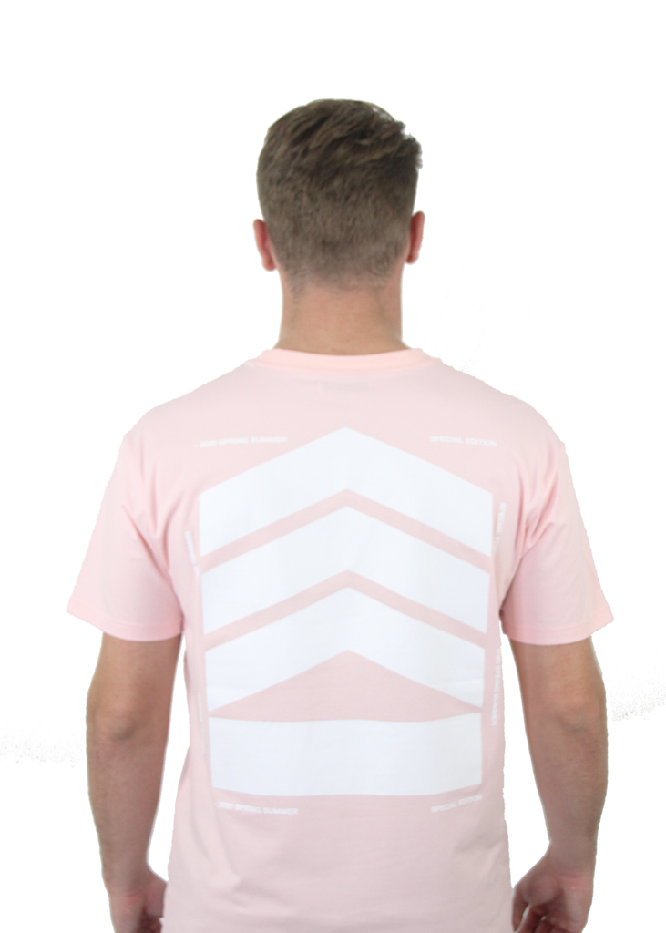 Essentials Men's white logo, Pink T-shirt - SPECIAL EDITION