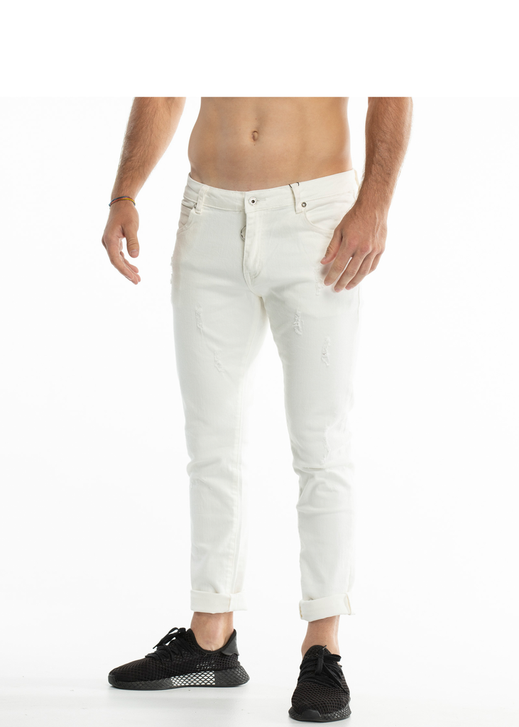Essentials Men's White stretchy denim pants